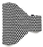 Zaffiro® Stützkissen Lagerungskissen DESIGN für Baby 2 Keilen-Seitenschläferkissen Schlafhilfe (Dreiecke schwarz-weiss)