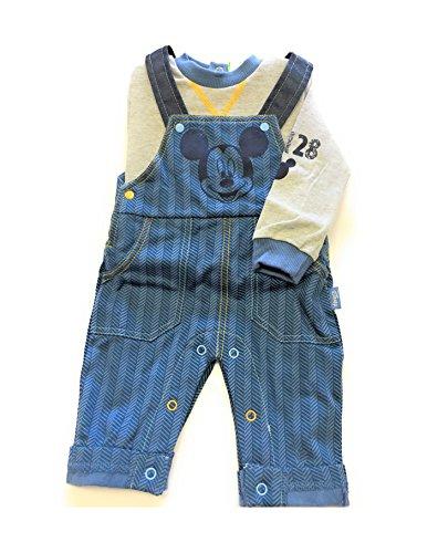 Salopette neonato con t-shirt manica lunga interlock