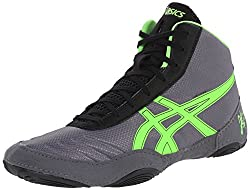 Asics Men's Jb Elite V2.0 Wrestling Shoe, Granitegreen Geckoblack, 10.5 M Us
