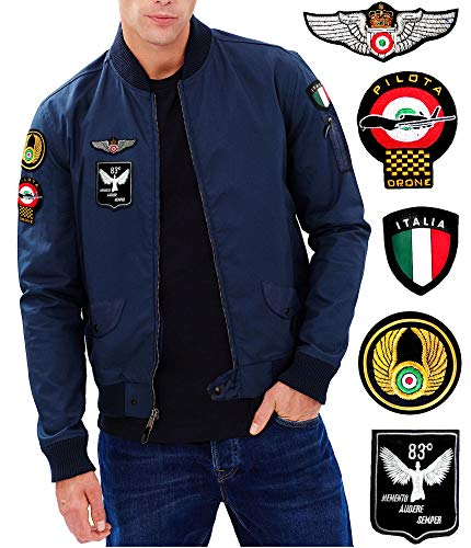Gen.con. giubbotto militare aeronautica bomber pilota italia