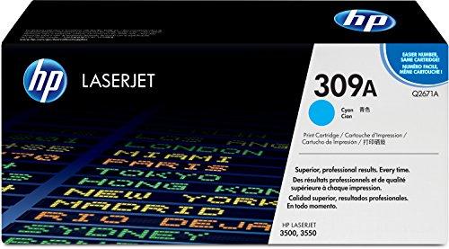 HP 309A (Q2671A) Blau Original Toner für Color Laserjet 3550 (Druckkassette 3500)