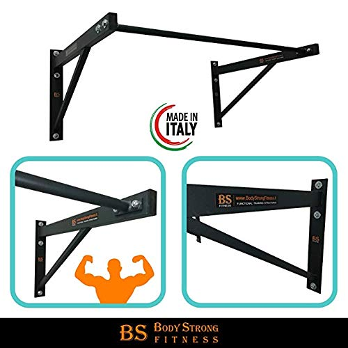 Barre de traction murale Muscle Up & Pull Up - crossfit - callisthénie - biceps - 100 x 50 cm - graphite