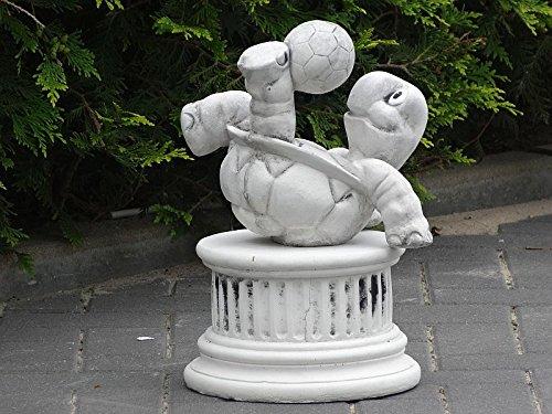 Steinfigur Nr.556 Fußball Schildkröte 11 Fussballspieler ca. 8 kg - 7