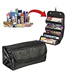 #3: Woogor Roll N Go Travel Buddy Cosmetic Toiletry Bag (Black)