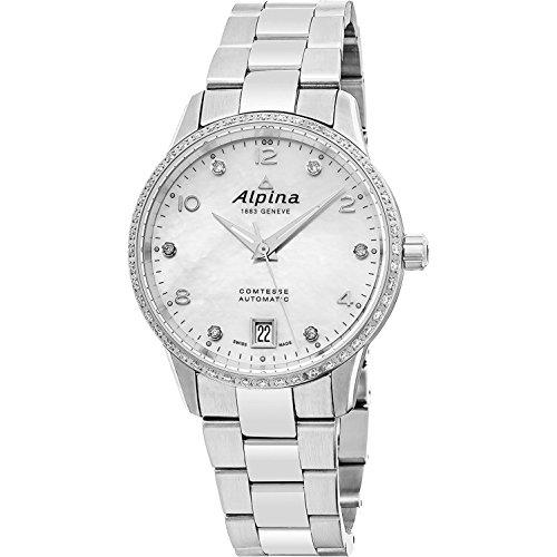 Alpina Women's Comtesse Diamond 34mm Steel Case Automatic Watch AL-525APW3CD6B