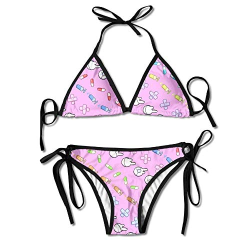 Nurse Medical Supplies Women's Sexy Bikini Set Swimsuit Bathing Suit Triangle Swimwear (Medical Party Supplies)