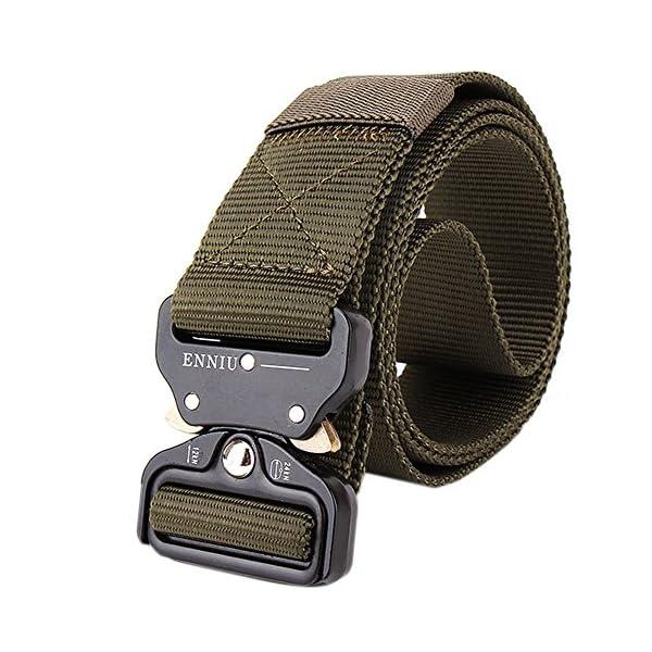 FEIKCOR Cinturón Táctico Cinturón Resistente para Hombres Cinturón Militar DE 1,5 '' Cinturones de Fijación Rápida… 4