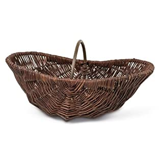 Adam Schmidt Wicker Green Garden Basket oval 55 x 35 CM