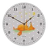 Mr. & Mrs. Panda 30 cm Wanduhr Fuchs Sterne - Fuchs, Füchse, tröstende Worte, Spruch positiv, Spruch schön, Romantik, Always Look on the Bright Side of Life Wanduhr, Uhr, Kunderuhr, Kinderzimmer, Rund, Druck