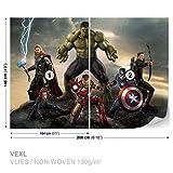 Marvel Avengers Kampf Fototapete Tapeten Fototapeten Wandbilder Fotomural (3361DK)