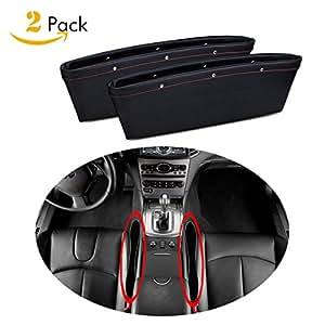 2 Pack Car Seat Gap Filler And Pocket Organizer Console Gap Filler Extra Storage Car Interior
