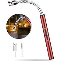 MOSUO Briquet Électrique, Allume Bougie Électrique Arc Électronique USB Rechargeable, Coupe-Vent sans Flamme pour Cigarette, Bougie,Cuisine, Barbecue, Gazinière,Cheminée