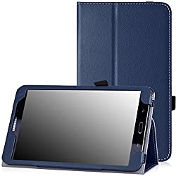 Moko Slim Folding Cover For Samsung Galaxy Note Pro 12.2, Tab 3 Lite 7.0, Tab 4 7.0, Tab 4 8.0, Tab 4 10.1, Tab Pro 8.4, Tab Pro 10.1 Blue Indigo Pour Galaxy Tab 4 8.0