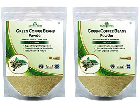 4) Nutriherbs 100% Pure And Natural Green Coffee Beans Powder For Weight Loss 200Gm (Pack Of 2)