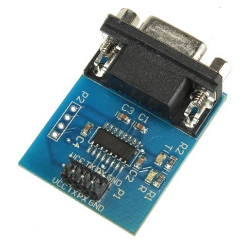 DollaTek MAX3232 RS232 Serieller Anschluss zum TTL Konverter Modul DB9 Stecker W / 4 Sprungkabel -