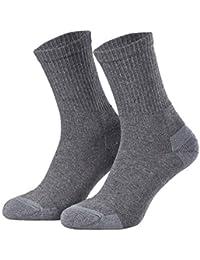 Tobeni 3 pares hombre calcetines trabajo de algodón con talón y puntera reforzados