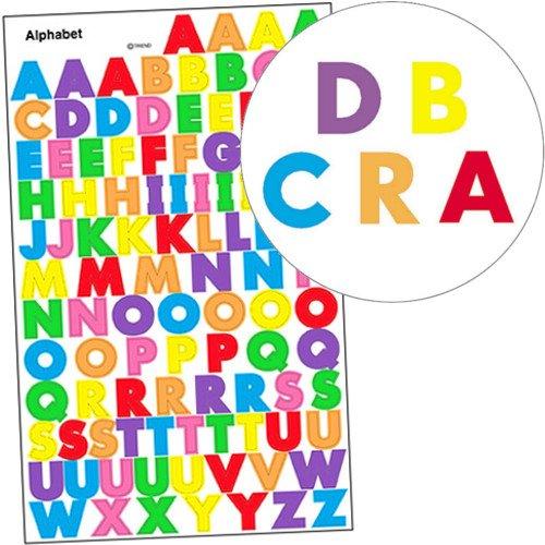 German Trendseller® - 100 x Bunte Buchstaben Sticker┃ - ABC Sticker - ┃ Einschulung ┃ Sticker Set für Kinder
