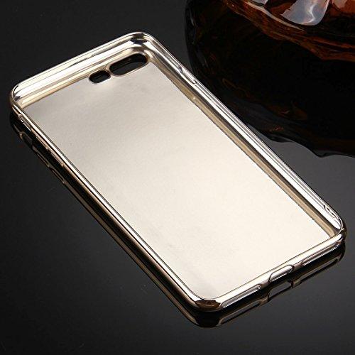 iPhone 8 Plus, 7 Plus Koffer, KrygerShield® - weiche Luxusleder flexible Kristallgelabdeckung mit galvanisiertem Stoßfänger in rosa Black