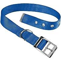 Ferplast Club Cf25/53 Collier Nylon Bleu, Règlable de 45 à 43Cm largeur 25 mm