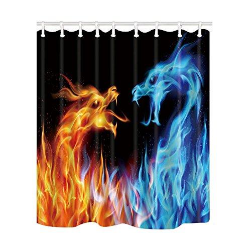 nd Ice Dragon Duschvorhang 175,3x 177,8cm Schimmelresistent Polyester Stoff Bad Fantastische Dekorationen Bad Vorhang Haken im Lieferumfang enthalten ()