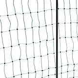 KERBL 292214  Filet Électrifiable Double Pointe pour Élevage Volaille Vert 25 m x 112 cm