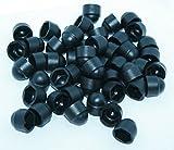 Schutzkappen aus Kunststoff für Sechskant-Schrauben und -Muttern, M8: 8mm, Schwarz, 20Stück