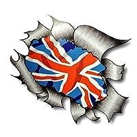 Sticar-it Ltd RIPPED TORN METAL Car Sticker Union Jack British UK Flag Vinyl decal Large 205x160mm approx.