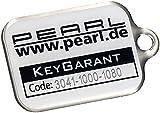 PEARL Schlüsselanhänger Finder: KeyGarant Schlüsselanhänger, Schlüsselfinder mit Schlüssel-Schutzbrief (Schlüssel Rücksende Service)