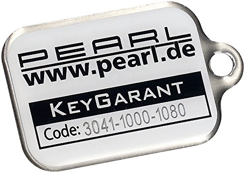 Preisvergleich Produktbild PEARL KeyGarant Schlüsselanhänger, Schlüsselfinder mit Schlüssel-Schutzbrief