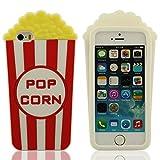 Pop Corn Modellazione Custodia Case Cover Compatibile con iPhone 5 / iPhone 5S / iPhone 5C / iPhone 5G, Bianco Colore Morbida Case