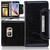 numia Samsung Galaxy S6 Hülle, Handyhülle Handy Schutzhülle [Book-Style Handytasche mit Standfunktion und Kartenfach] Pu Leder Tasche für Samsung Galaxy S6 SM-G920 Case Cover [Schwarz]
