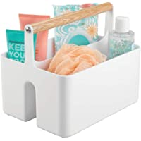 mDesign panier de rangement pour salle de bain – boite plastique avec poignée pour rangement maquillage – caisse de…