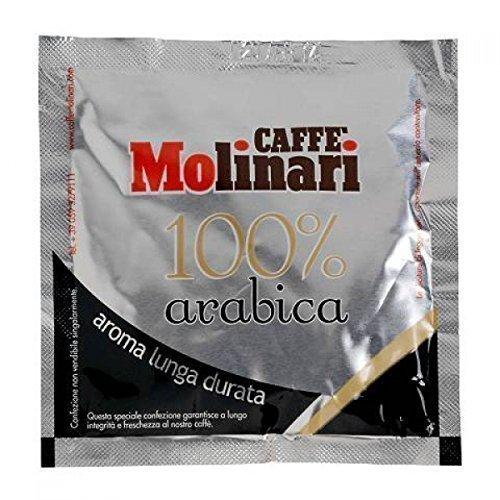 Caffè Molinari 'Lungo' 100% Arabica, 50 ESE Kaffeepads / ESE Pads / Pods / Cialde, 300 g