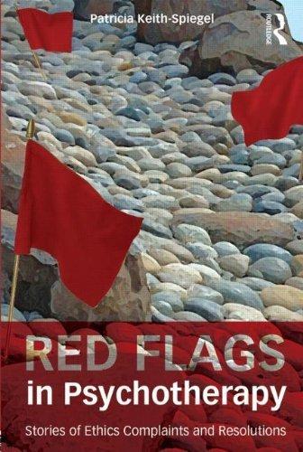 Taschenbuch mit roten Flaggen in Psychotherapie: Geschichten der Ethik Beschwerden und Resolutionen – 19. September 2013