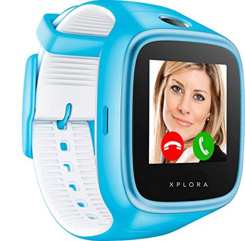 XPLORA 3S - smartwatch para tu hijo, resistente al agua, cámara, SIM no incluida (AZUL)