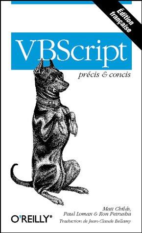 VBScript précis & concis par Childs