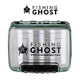 Fishing Ghost® wasserdichte Köderbox für Spoons, Spinner, Blinker und Fliegen - passt in jede Jacke oder Tasche, wasserdicht - bietet viel Platz für bis zu 220/288 Spoons (Large) (Medium)