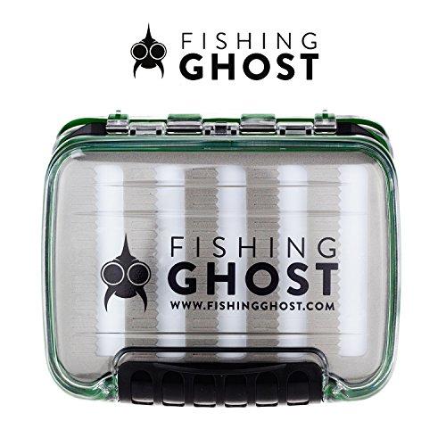FISHINGGHOST® wasserdichte Köderbox für Spoons, Spinner, Blinker und Fliegen - passt in Jede Jacke oder Tasche, wasserdicht - bietet viel Platz für bis zu 220/288 Spoons (Large) (Medium)