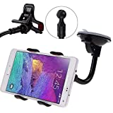 Sachdeal Car Mobile Holder for BlackBerry Curve 9360 360° Rotable Mobile Phone & GPS Device Holder Mobile Holder Stand Mount - Black