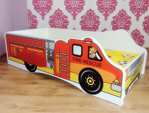 *Kinderbett Fire SOS Feuerwehrbett inkl. Rollrost + Matratze 70*140 cm*