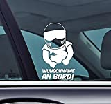 Wunschname An Bord! - Motorradhelm Baby On Board Personalised with your Name Funny Auto Vinyl Sticker Car Jdm OEM Vertical Sticker Bomb Stickers Decals Tuning Sticks