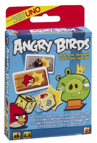 Mattel W3969 - Angry Birds Kartenspiel, basierend auf der beliebten App