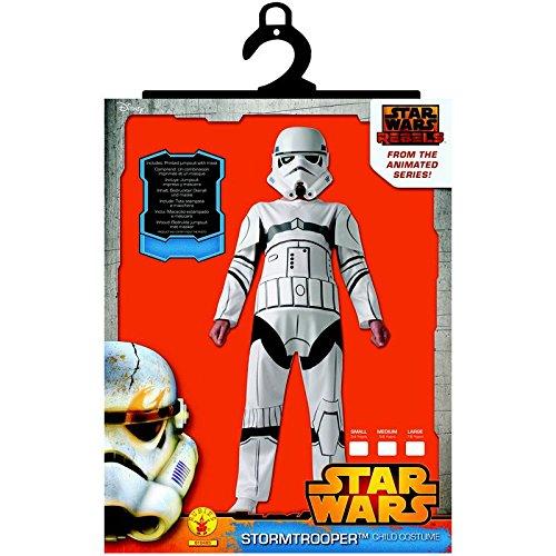 Kostüm Star Wars Rebels (Klassisches Star Wars Rebels Stormtrooper-Kostüm für Kinder 98/104 (3-4 Jahre))