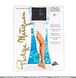 calza philippe matignon cool summer 8 den 3 nero corpino e punte nude