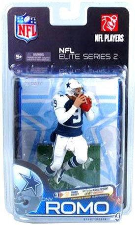 McFarlane Toys Action Figure - NFL Elite Series 2 - TONY ROMO (Collector Level Bronze - Variant Third Jersey) 'ed out of 3000 Tony Romo Nfl Jersey