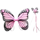 Skky Bell Kids , Light Pink Colour Butterfly Wings Costume For Baby Girl Angel For Birthday Party