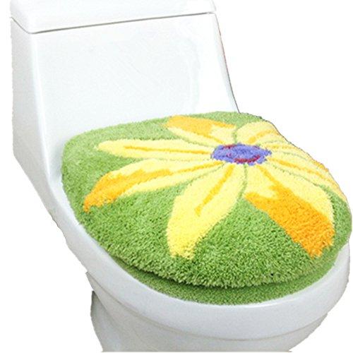 Vimeet 2 Stück Wärmer Badezimmer Bad Toilettendeckel Cover WC-Sitzbezüge/Toiletten Sitzbezug/WC Closestool Set WC-Sitz Deckel Set