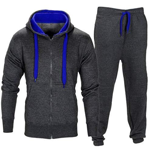 Sport Anzug Kleidung Herren Manadlian Männer Dehnbar Hose Kapuzenmantel Jacke Hose Joggen Sport Trainingsanzug Set Pullover Outwear
