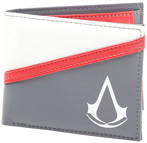 bioworld-assassins-creed-debossed-crest-bi-fold-wallet-coin-pouch-17-cm-grey