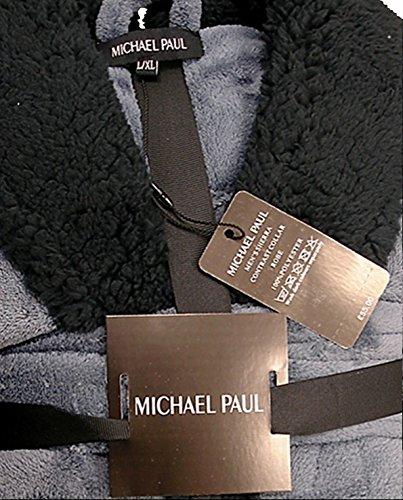 MICHAEL PAUL Herren Morgenmantel Grau / Schwarz